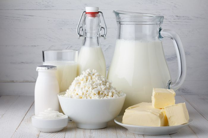 Susu dan produk olahannya.