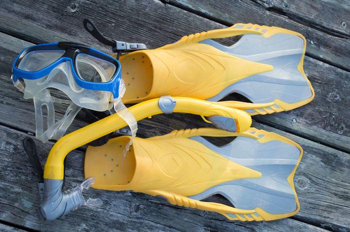 Peralatan snorkeling.