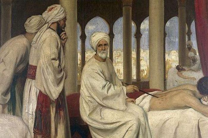 Al-Zahwari sedang mengobati seorang pasien di rumah sakit Cordova.