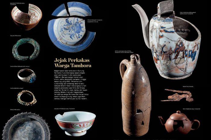 """Temuan di situs arkeologi Tambora yang menjadi bagian cerita """"Terbenam Murka Sang Ancala"""", National Geographic Indonesia."""