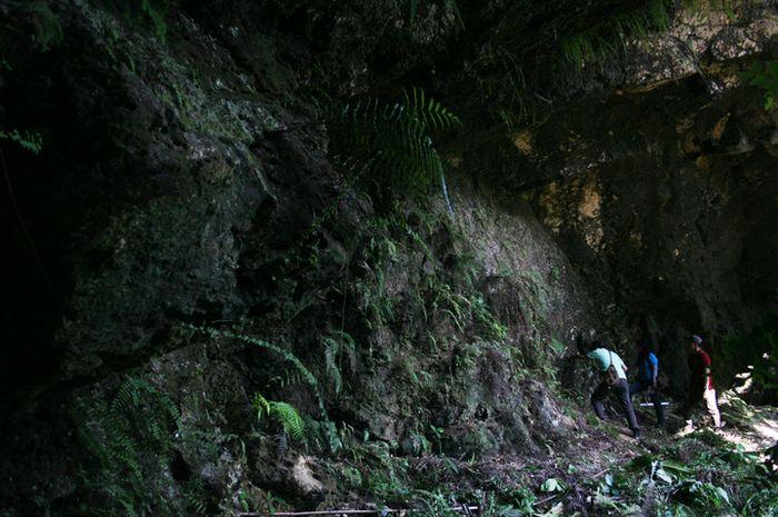 Di Situs Paciran, Jawa Timur, ahli geologi dan geofisika mengamati batu karang besar, yang menjadi r