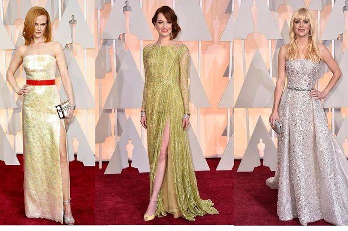 Inspirasi Gaun Pesta Nuansa Pastel Dari Karpet Merah Oscar 2015