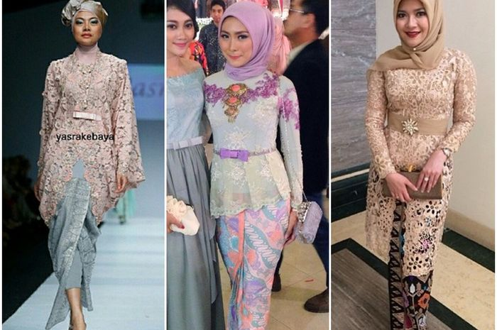 Inspirasi 10 Model Kebaya Hijab Pesta Yang Cantik Dan Anggun Semua