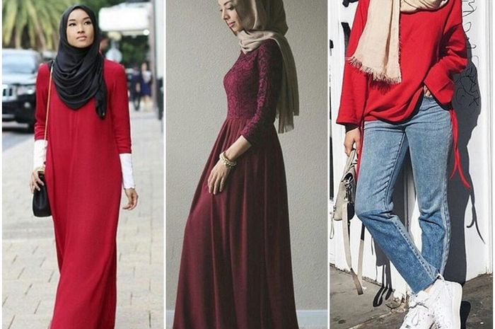 Tips Padu Padan Busana Hijab Nuansa Merah Yang Elegan Dan Modis