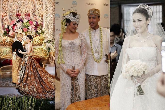 Mewah Dan Anggun Ini 5 Gaun Pengantin Artis Indonesia Yang Cantik