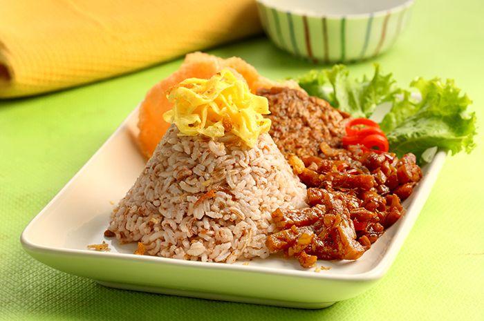nasi uduk beras merah