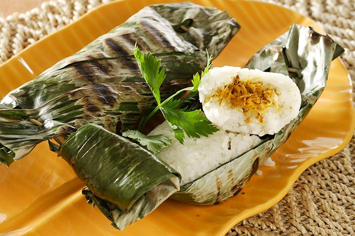 Nasi Bakar Serundeng Ikan