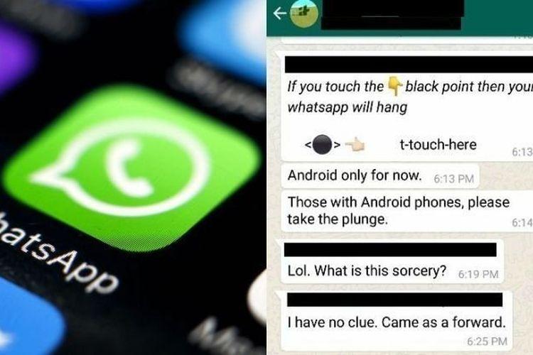 """Jangan Tekan Tombol Hitam di WhatsApp ini Karena Bisa Bikin """"Hang"""""""