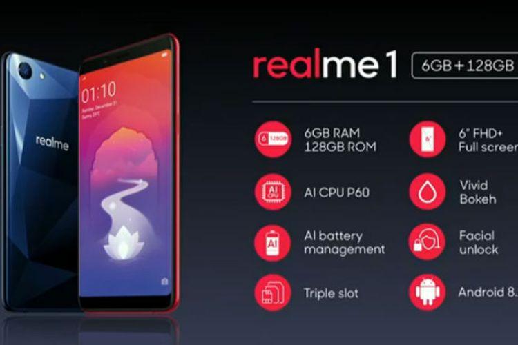 Oppo Realme 1 Usung RAM 6 GB  dan Kamera AI, Berapa Harganya ?
