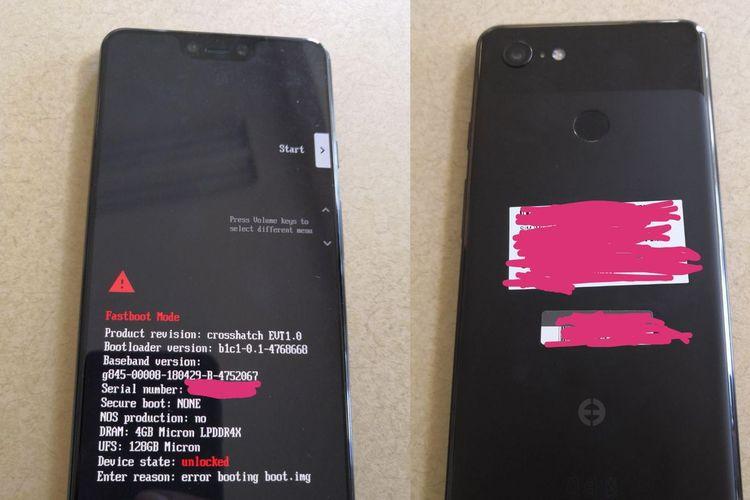 "Bocoran Terbaru, Google Pixel 3 XL Pakai ""Poni"" Mirip iPhone X"