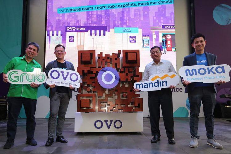 OVO Jalin Kemitraan dengan Bank Mandiri, Alfamart, Grab dan Moka