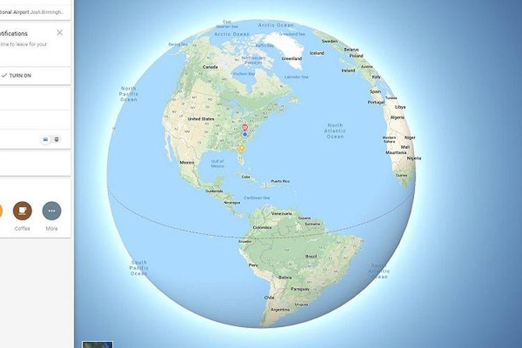 Kini Google Maps Tampilkan Peta Bumi Bulat, Bukan Datar Lagi