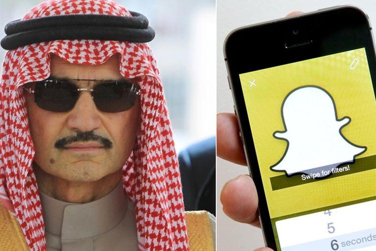 Pangeran Arab Saudi Beli Saham Snapchat Senilai Rp3.6 Triliun