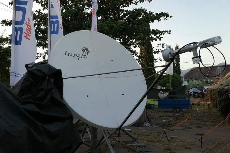 Lintasarta Sediakan Sarana Internet Satelit di Posko Bencana Lombok