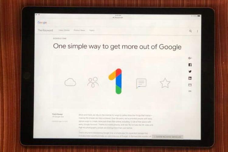 Google Luncurkan Layanan Google One dengan Banderol Murah, Harganya?