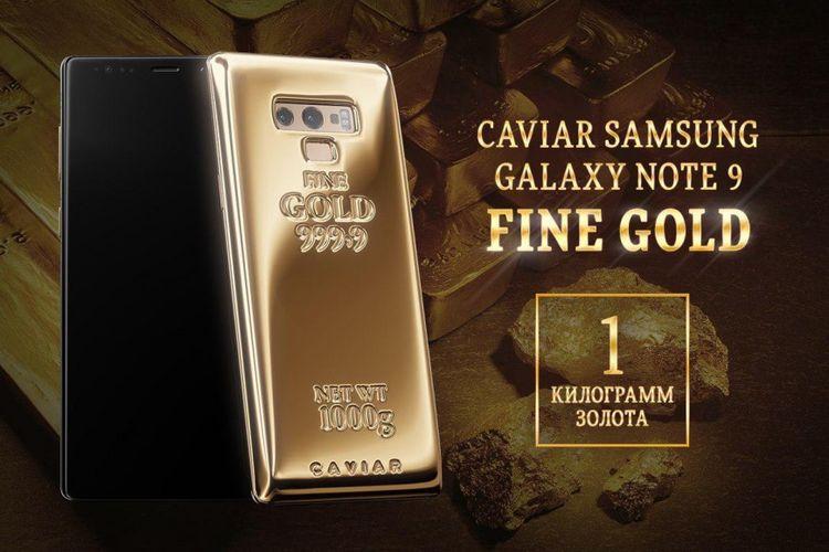 Galaxy Note 9 ini Punya Berbalus Emas Murni 1 Kilogram, Harganya?