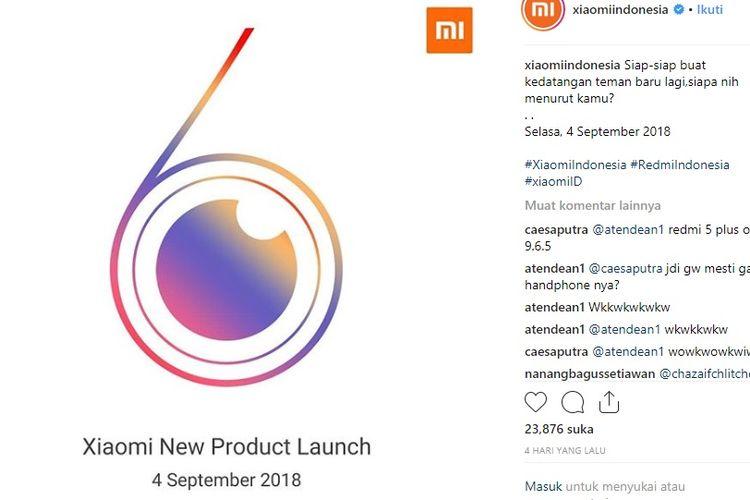 Xiaomi Berencana Luncurkan Ponsel Terbaru Redmi 6 di Indonesia?