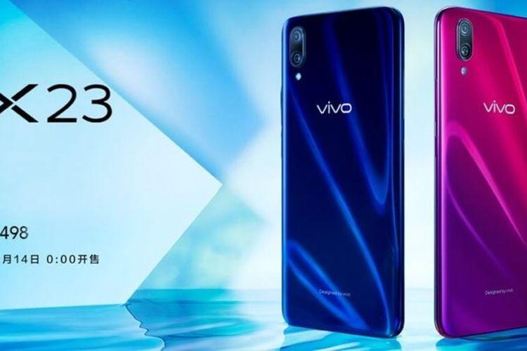 Vivo Resmi Luncurkan Ponsel Vivo X23 dengan Fitur AI,  Harganya?