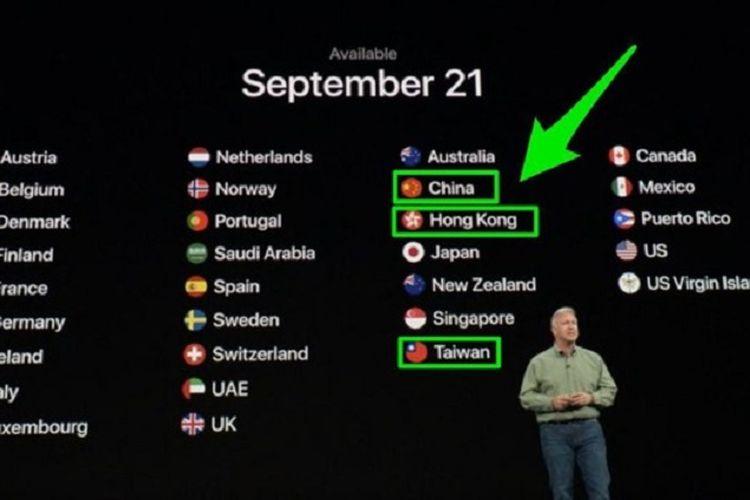 """Tiongkok """"Semprot"""" Apple Karena Salah Sebut Taiwan dan Hong Kong"""