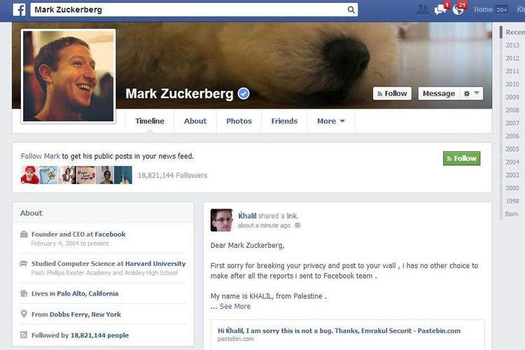 Hacker ini Siarkan Langsung Aksi Bobol Akun Facebook Mark Zuckerberg