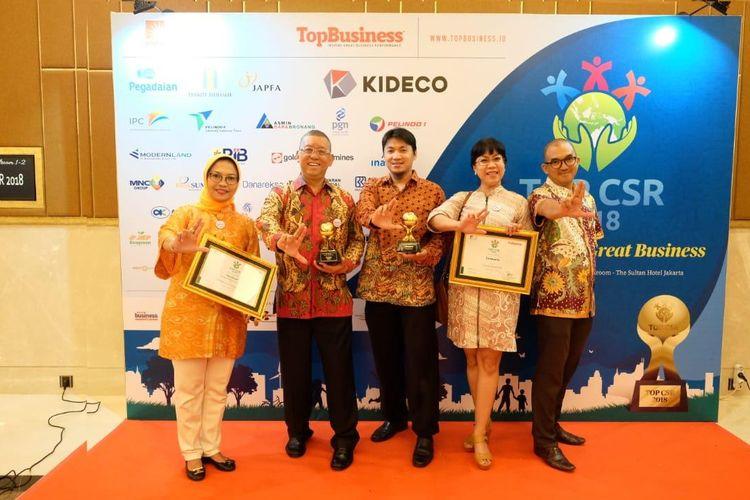 Lintasarta Sabet Dua Penghargaan Bergengsi di Ajang Top CSR 2018