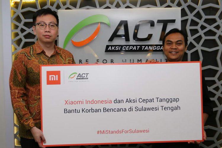 Xiaomi Indonesia bersama ACT Bantu Korban Bencana di Sulawesi Tengah