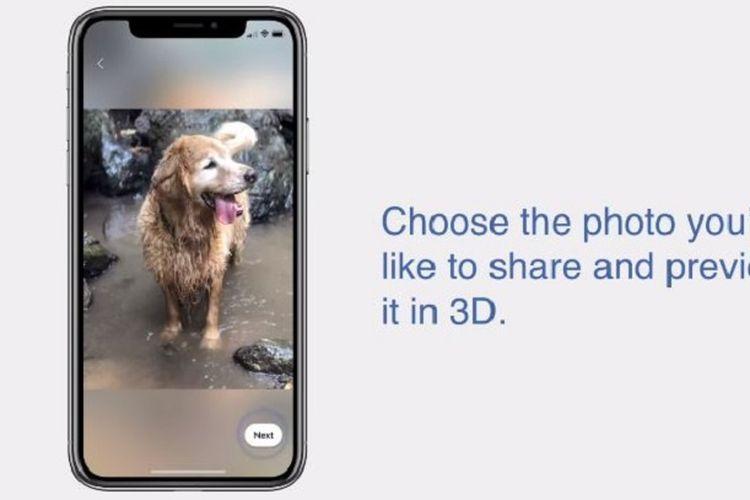 Begini Cara Mudah Posting Foto Format 3D di Linimasa Facebook