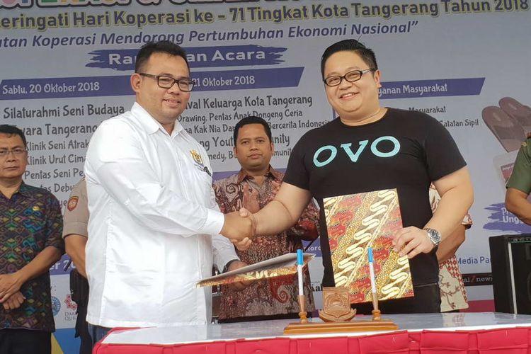 OVO dan VisioNet Gandeng KADIN Tangerang Wujudkan Cashless Society