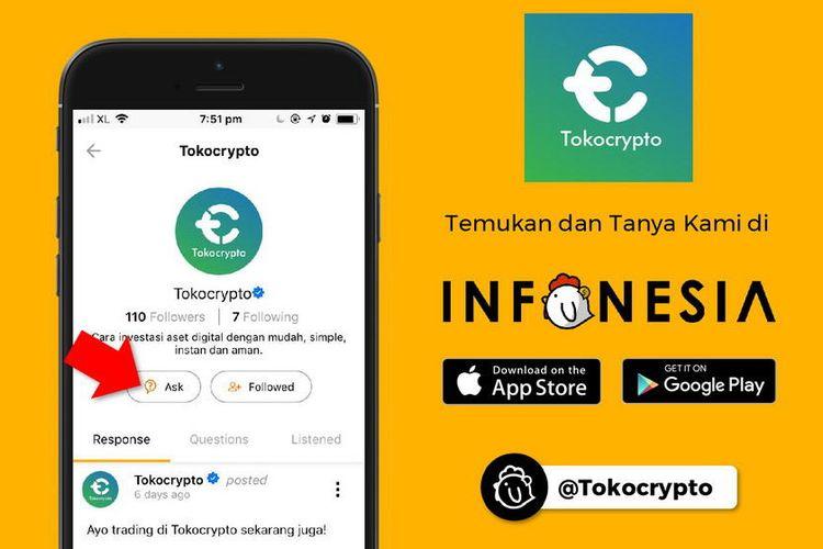 Tokocrypto Gandeng Infonesia Sebagai Sarana Edukasi Terkait Blockchain