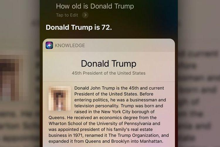 Kurang Ajar! Diminta Foto Donald Trump, Siri Tampilkan Gambar Penis
