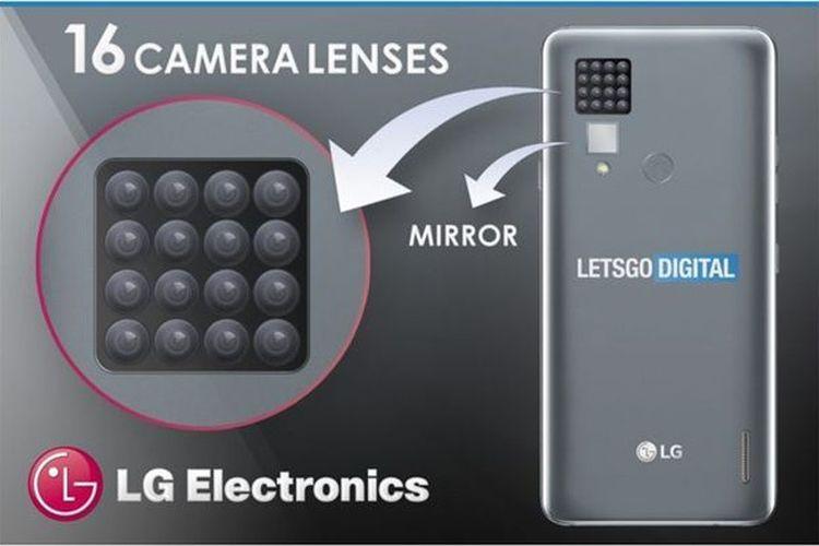 Rekor Baru! LG Patenkan Ponsel Pintar dengan 16 Kamera Belakang