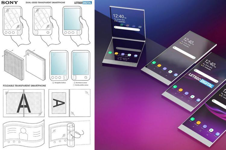 Sony Daftarkan Paten Ponsel Lipat dengan Layar Tembus Pandang