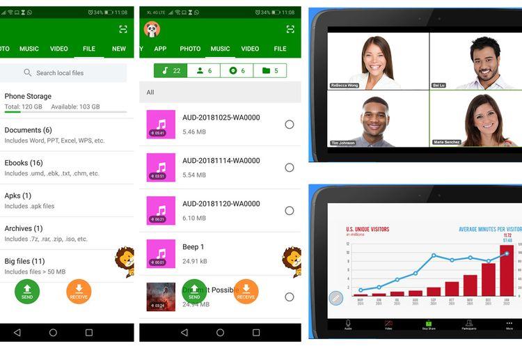 Aplikasi Pilihan untuk Android: Xender dan Zoom Cloud Meetings