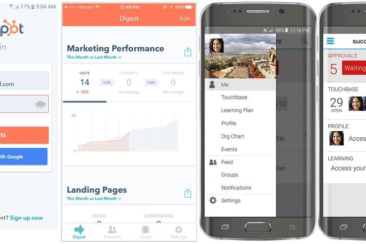 Aplikasi Pilihan untuk Android: Hubspot beserta SuccessFactor