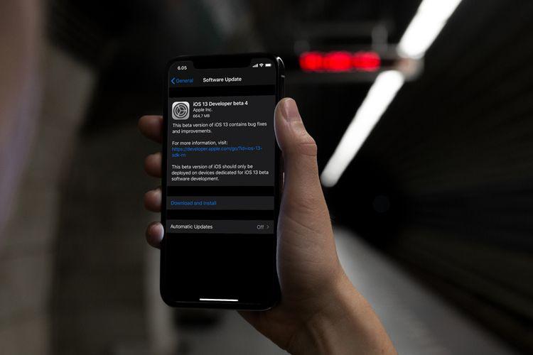 iOS 13, iPadOS, watchOS 6, dan tvOS 13 Beta Developer 4 Rilis