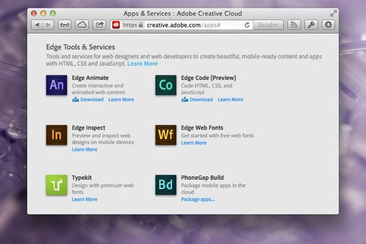 Cara Install Aplikasi Adobe Edge Tools & Services Secara Gratis
