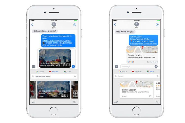 Gboard Tambah Akses Cepat ke Google Maps dan YouTube