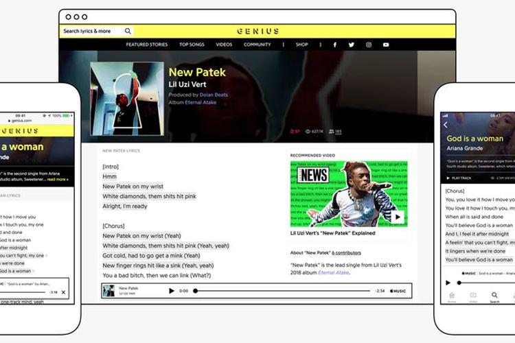 Genius dan Apple Music Jalin Kerjasama Database Lirik, Pemutar Musik