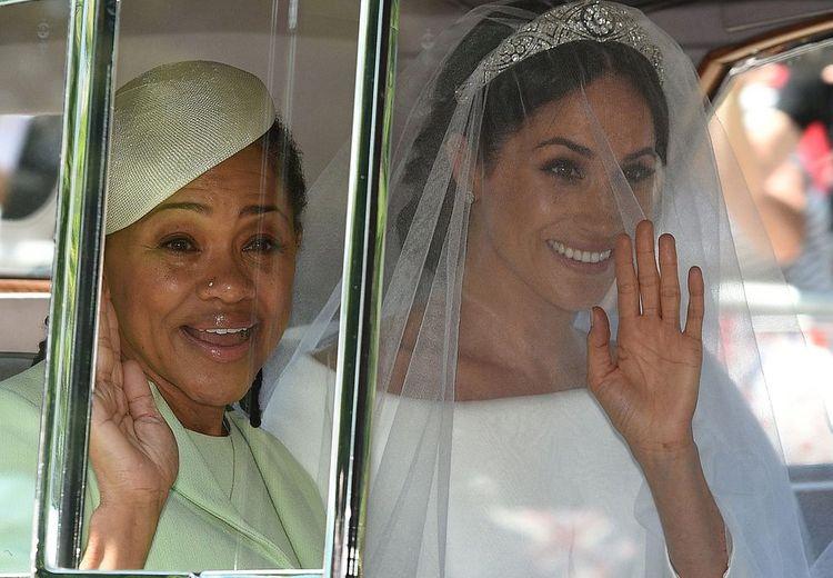 Putrinya Menikah, Inilah Momen Ibunda Meghan Markle Menangis Haru