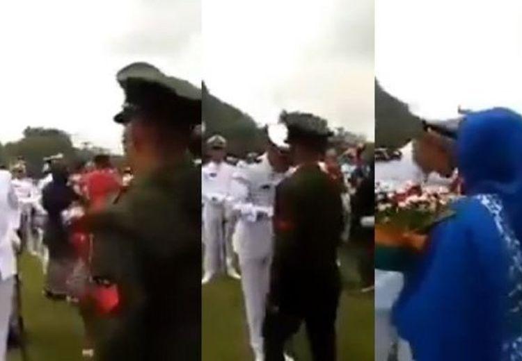 Seorang Ayah Berpangkat  Kopral Beri Hormat ke Anaknya yang Jadi Letnan, Si Anak Nangis!