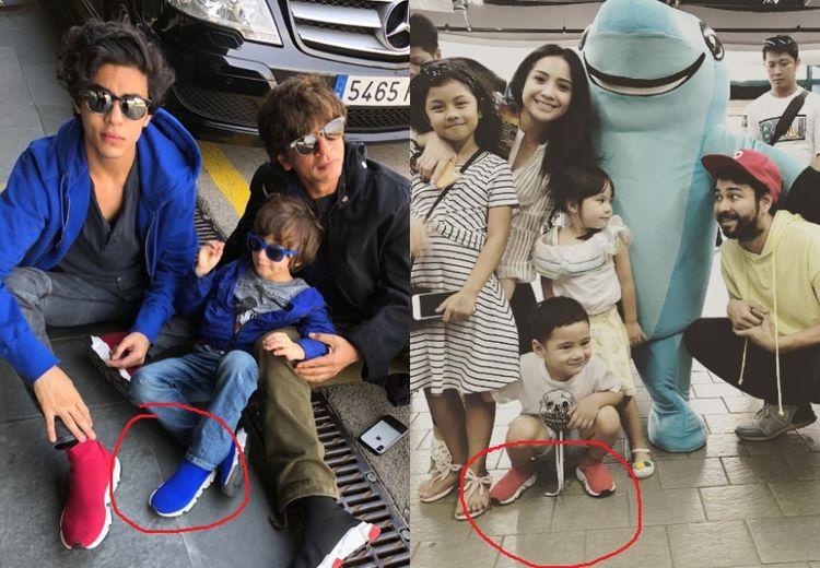 Rafathar dan Anak Bungsu Shah Rukh Khan Kenakan Sepatu Bermerek Sama Walau Beda Warna, Segini Harganya!