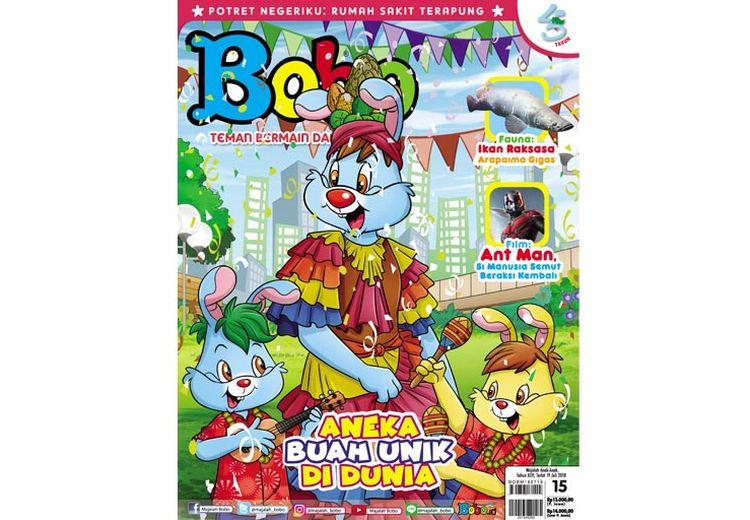 Wow! Ada Buah-Buah Unik di Majalah Bobo Edisi 15 (Terbit 19 Juli 2018)