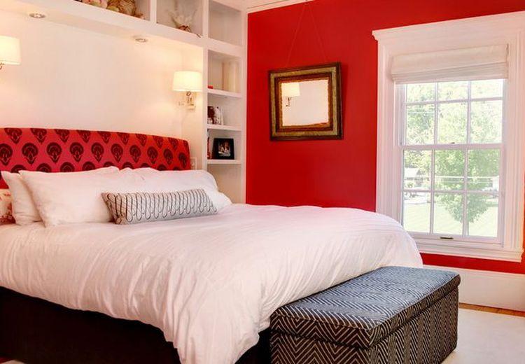 Contek 4 Desain Kamar Tidur Bernuansa Merah, Warna Menggairahkan