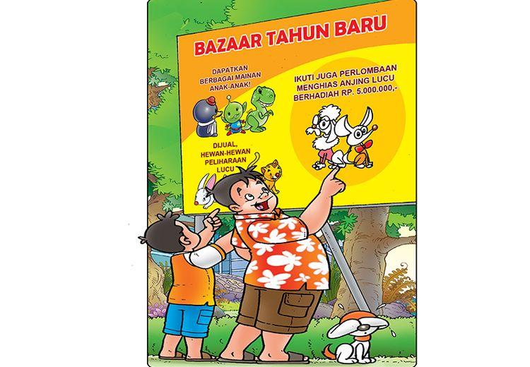 Cergam Anak: Bazar di Tahun Baru