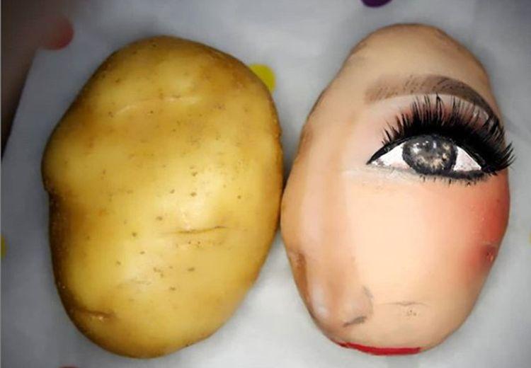 Bukan Lagi Wajah, Para Beauty Vlogger Kini  Mendandani Kentang, Hasilnya Bikin Takjub!