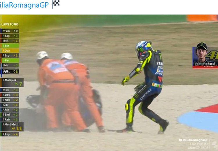 Senior Marc Marquez di Repsol Honda Ejek Valentino Rossi Usai Mejan di Rumah