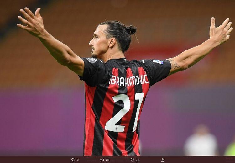 Ibrahimovic Ngamuk Usai Bawa AC Milan Menang di Derbi della Madoninna