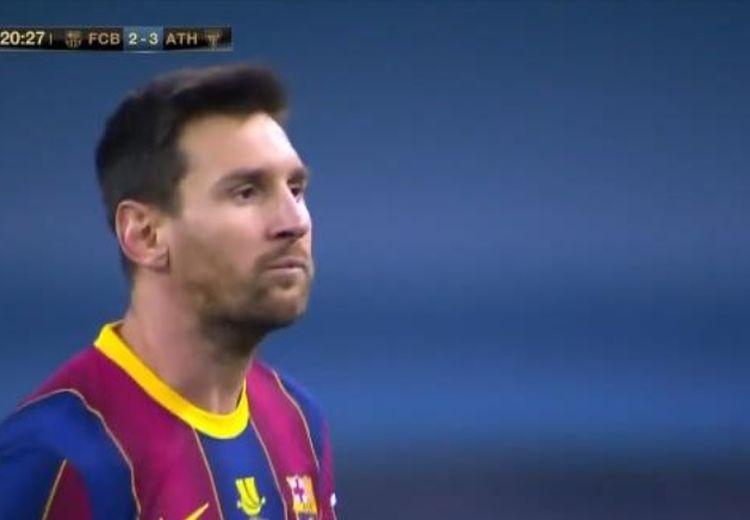 VIDEO - Detik-detik Lionel Messi Pukul Pemain Athletic Bilbao