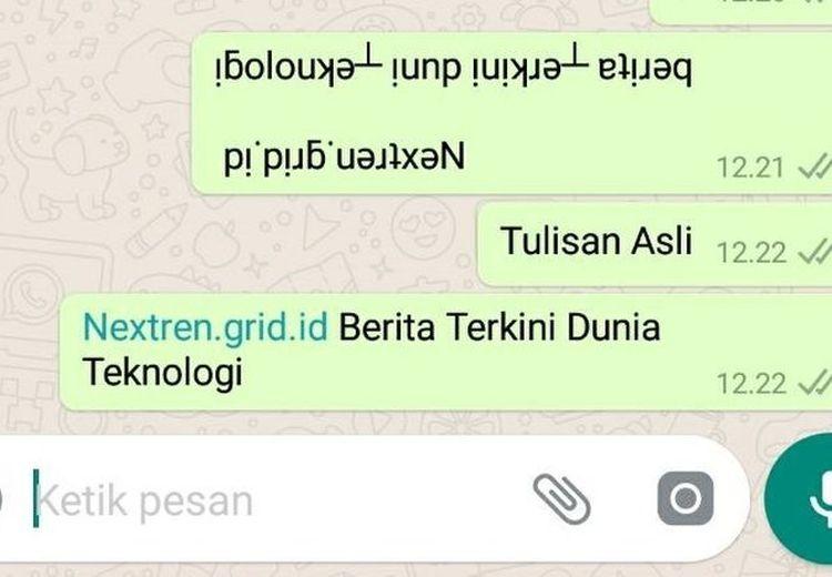 Trik Bikin Teks WhatsApp Terbolak-Balik, Lumayan Buat Jahilin Teman