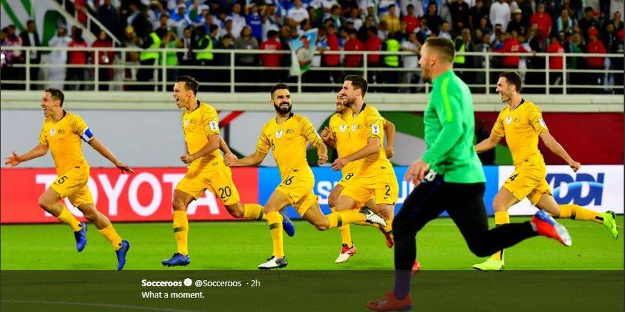 Hasil Piala Asia - Menang Adu Penalti, Australia ke Perempat Final